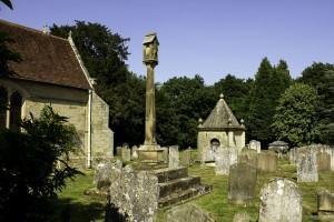churchyard at saint mary's