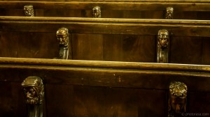 choir stalls with carved heads
