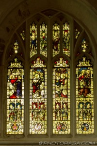 stained glass by the north aisle