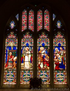 stained glass window at maidstone all saints