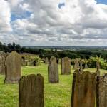 gravestones and sky