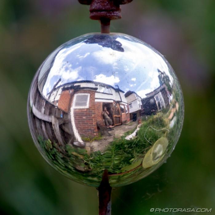silver fisheye reflection