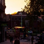 sunset on maidstone high street