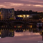 early evening maidstone bridge lights