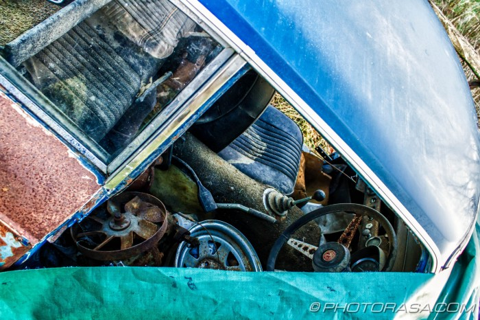abandoned car interior
