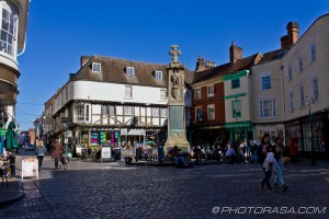 market place outside canterbury cathedral