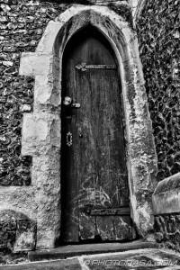 narrow old door
