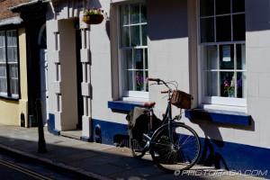 pushbike outside house