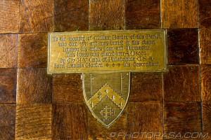 brass floor plaque