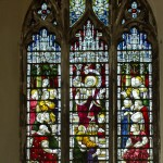 first north side stained glass window