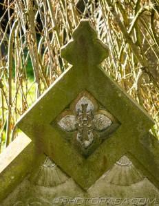 ihs christogram on grave