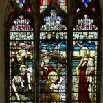 second north side stained glass window