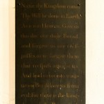 wall panel showing lords prayer
