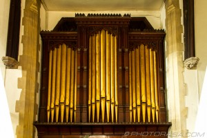 brass organ pipes