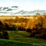 hdr landscape of light on treetops in langley