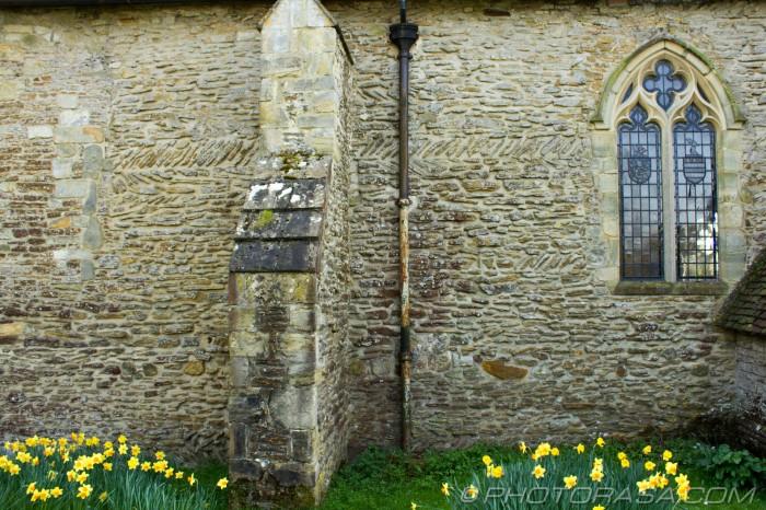 medieval herring bone brickwork