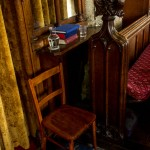 water chair and pew