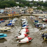 boats lined up in harbour