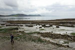 broken rocks and jurassic cliffs