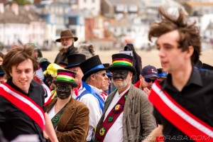 morris dancing at lyme regis