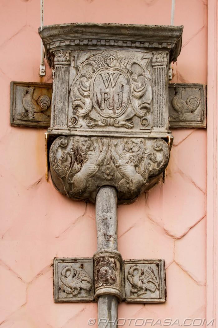 ornate 18th century drain