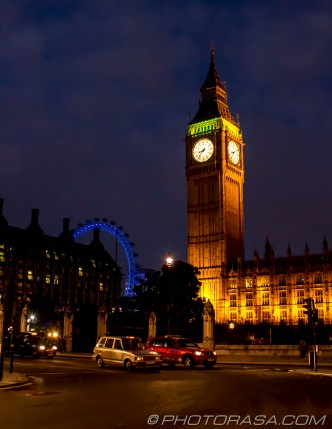 big ben and london eye from parliament square