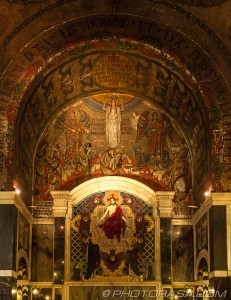 chapel of holy souls - mosaic above altar