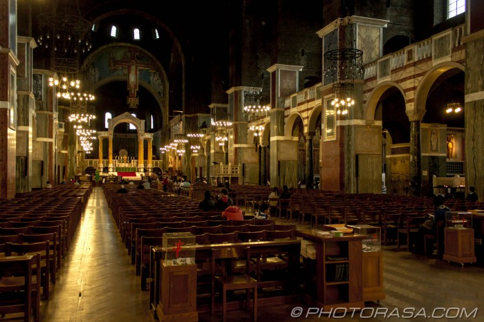 low lit nave