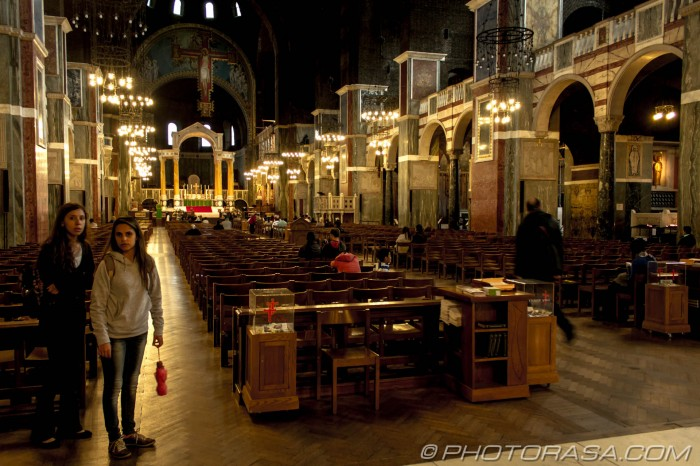 nave and worshippers