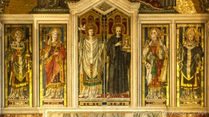 panels showing Augustine Gregory and other Saints