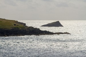 rocky outcrop at west pentire