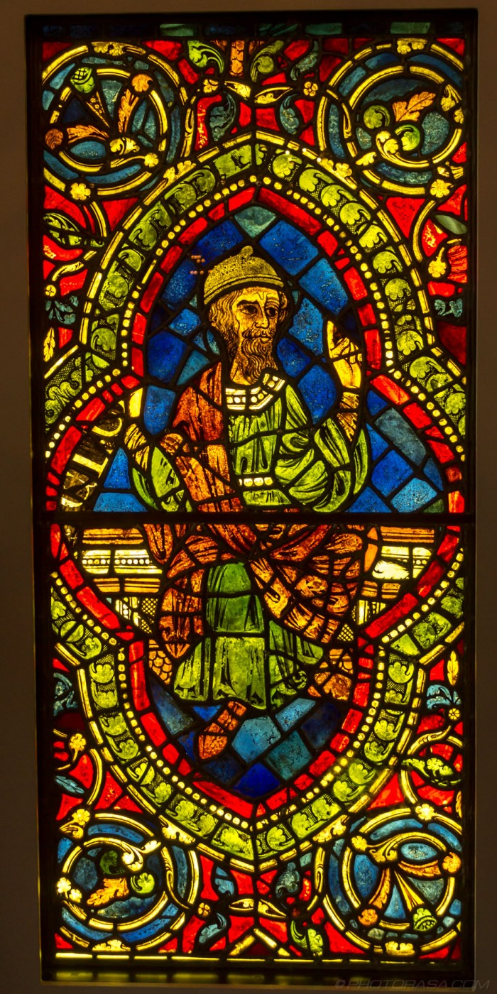christ ancestor 12th century stained glass