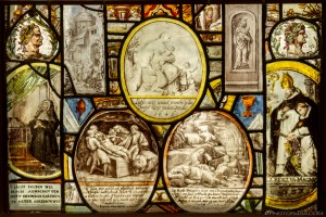 dutch stained glass of biblical scenes