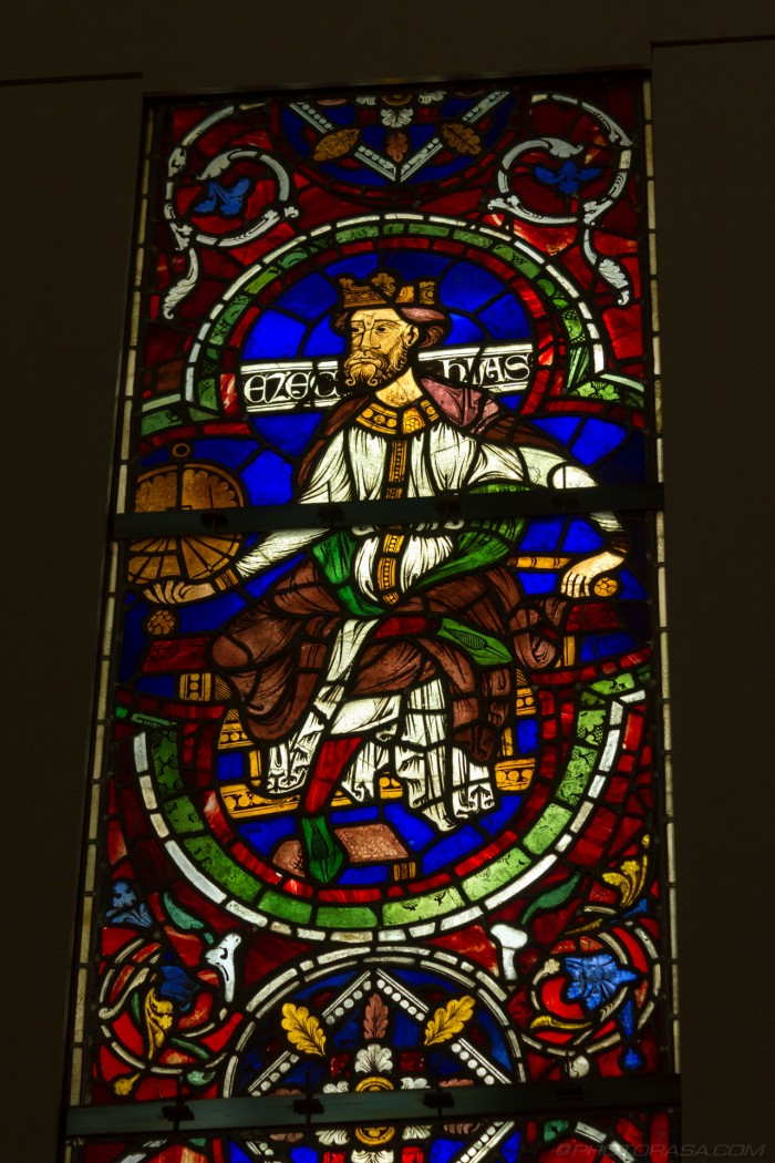 ezechias stained glass