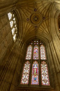 fan vaulted ceiling at south porch
