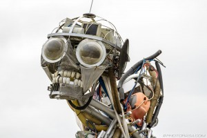 head of waste technology sculpture at eden project