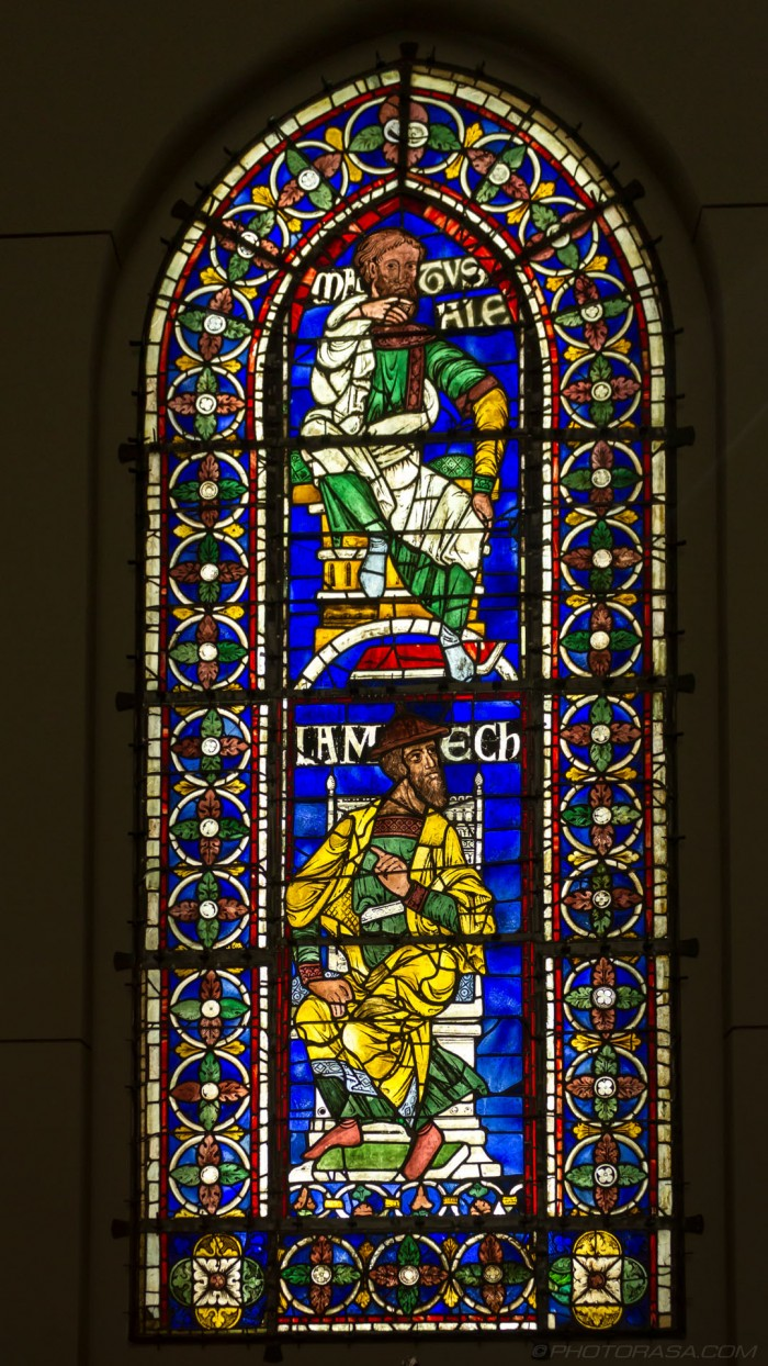 matusale and lamech stained glass