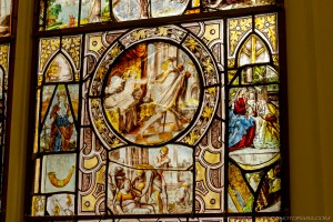 stained glass patchwork of saved fragments
