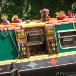 colourful river barge
