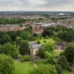 cathedral grounds from yorkminster tower