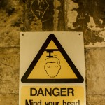 danger mind your head warning sign