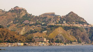 east sicily coast line at giardini naxos