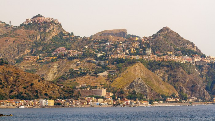 east sicily coast line at giardini naxos