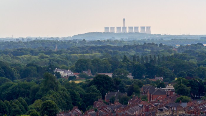 eggborough power station from yorkminster tower