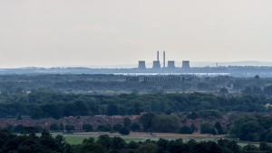 ferrybridge power station from yorkminster tower
