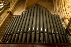 grey pipes from the old organ
