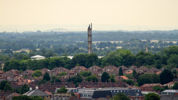 industrial metal chimney over york
