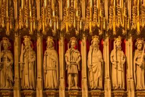 kings screen decorative stone figures