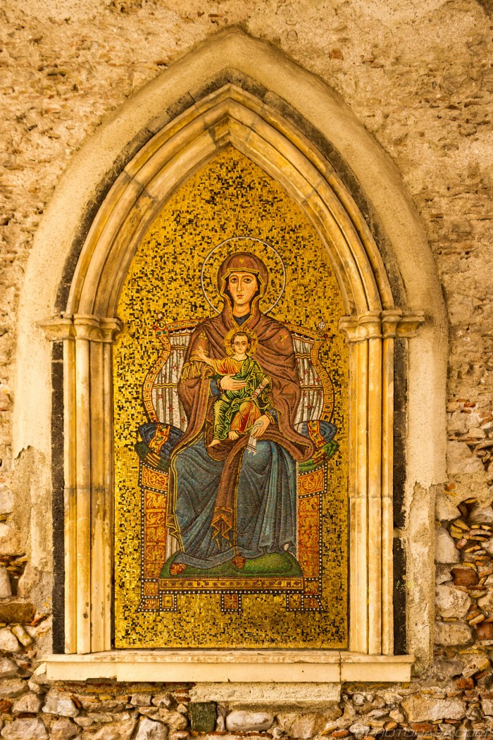 roman mosaic at taormina