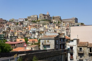 sicilian village on a hill